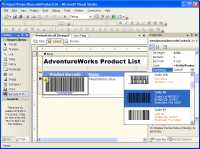 MS SQL Reporting Services Barcode .NET 7.0 screenshot. Click to enlarge!