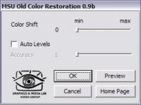MSU Old Color Restoration for VirtualDub 0.9 screenshot. Click to enlarge!