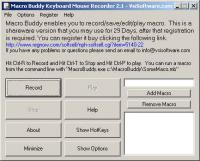 Macro Keyboard Mouse Recorder Wizard 2.1 screenshot. Click to enlarge!