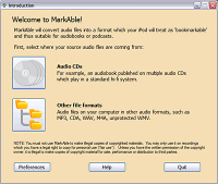 MarkAble 2.4.5 screenshot. Click to enlarge!