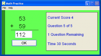 Math Flash 4.6 screenshot. Click to enlarge!