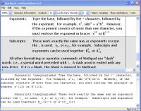 Mathpad 1.0 screenshot. Click to enlarge!