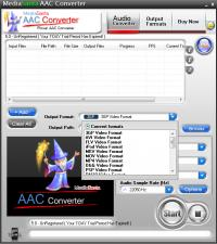 MediaSanta AAC Converter 5.0 screenshot. Click to enlarge!
