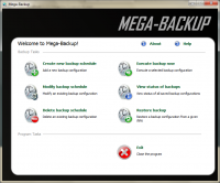 Mega-Backup 1.00 screenshot. Click to enlarge!