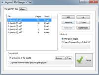 Mgosoft PDF Merger 9.0.1 screenshot. Click to enlarge!