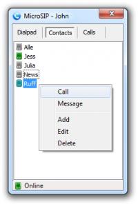 MicroSIP 3.15.4 screenshot. Click to enlarge!