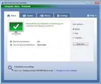 Microsoft Security Essentials 4.10.209.0 screenshot. Click to enlarge!