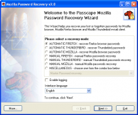 Mozilla Password Recovery 5.7.0.487 screenshot. Click to enlarge!
