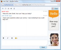 MyLiveChat 2.0.0 screenshot. Click to enlarge!