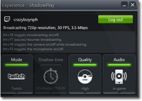 NVIDIA GeForce Experience 3.6.0.74 screenshot. Click to enlarge!
