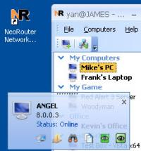 NeoRouter Free 2.3.2.4450 screenshot. Click to enlarge!