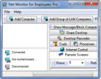 Net Monitor for Employees Pro 5.4.3 screenshot. Click to enlarge!