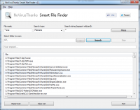 NoVirusThanks Smart File Finder 1.1 screenshot. Click to enlarge!