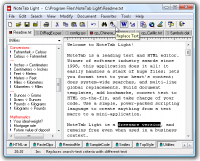 NoteTab Light 6.2 screenshot. Click to enlarge!