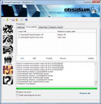 Obsidium Lite 1.6.0-2 screenshot. Click to enlarge!