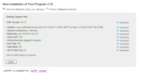 PHP EasyInstaller - Installation Wizard Script 1.0.1 screenshot. Click to enlarge!