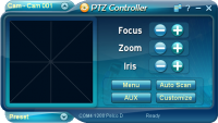 PTZ Controller 3.7.1047 screenshot. Click to enlarge!