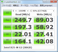 Portable CrystalDiskMark 5.2.0 screenshot. Click to enlarge!