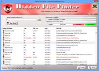 Portable Hidden File Finder 2.0 screenshot. Click to enlarge!