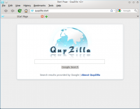Portable QupZilla 2.1.0 screenshot. Click to enlarge!