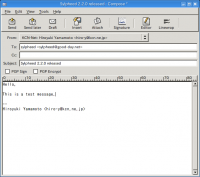 Portable Sylpheed 3.5.1.1174 screenshot. Click to enlarge!