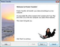 Presto Transfer QuickBooks 3.29 screenshot. Click to enlarge!