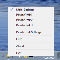 PrivateDesk 1.0.1 screenshot. Click to enlarge!