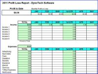 Profit Loss Report Spreadsheet 5.0 screenshot. Click to enlarge!