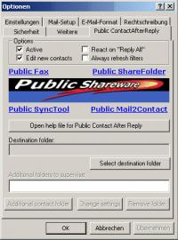 Public Contact After Reply for Outlook 1.2 screenshot. Click to enlarge!