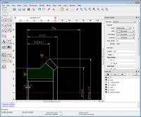 Portable QCAD Professional 3.17.2 screenshot. Click to enlarge!