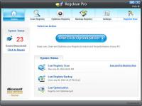 RegClean Pro 8.1.81.445 screenshot. Click to enlarge!