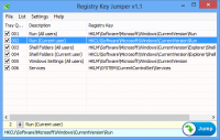 Registry Key Jumper 1.1 screenshot. Click to enlarge!