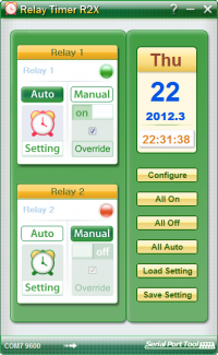 Relay Timer R2X 2.5.1 screenshot. Click to enlarge!