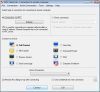 Remote Administrator Control Client Lite 5.0.0.1 screenshot. Click to enlarge!