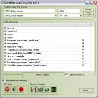 RightMark Audio Analyzer 6.4.1 screenshot. Click to enlarge!