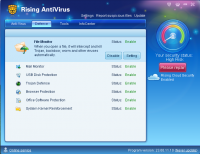Rising Antivirus 23.01.51.84 screenshot. Click to enlarge!