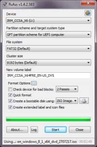 Rufus 2.13.1081 screenshot. Click to enlarge!