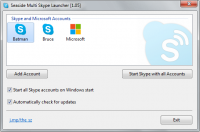 Seaside Multi Skype Launcher 1.15 screenshot. Click to enlarge!