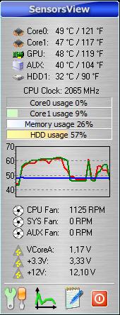 SensorsView Pro 4.1 screenshot. Click to enlarge!
