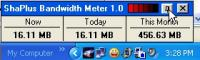 ShaPlus Bandwidth Meter 1.4.2 screenshot. Click to enlarge!
