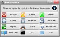 Shortcut creator 1.0 screenshot. Click to enlarge!