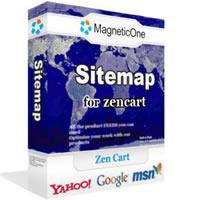 Site Map for Zen Cart 1.4.5 screenshot. Click to enlarge!