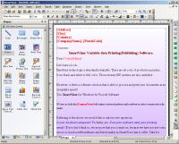 SmartVizor Variable text Print Software 12.5.10.1025 screenshot. Click to enlarge!