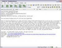 Speaking Notepad 5.2 screenshot. Click to enlarge!
