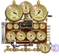 Steampunk Resource Monitor 1.0.2 screenshot. Click to enlarge!