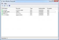SterJo Wireless Passwords Portable 1.2 screenshot. Click to enlarge!