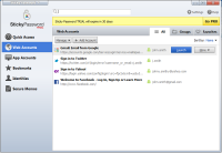 Sticky Password 8.0.11.49 screenshot. Click to enlarge!