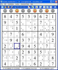 Sudoku Assistenten 2.0.2 screenshot. Click to enlarge!