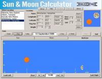 Sun & Moon Calculator 4.4.2 screenshot. Click to enlarge!