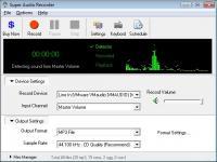 Super Audio Recorder 8.86 screenshot. Click to enlarge!